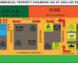 CORNER PROPERTY FOR SALE IN KIGAMBONI